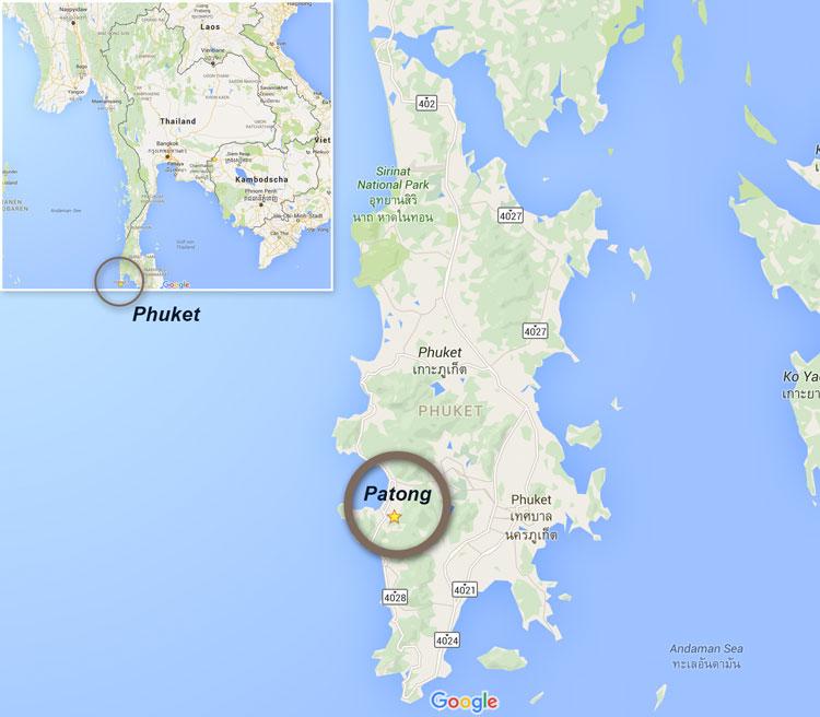 Phuket Patong Karte