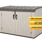 Wetterfeste Aufbewahrungsbox für Garten oder Terrasse